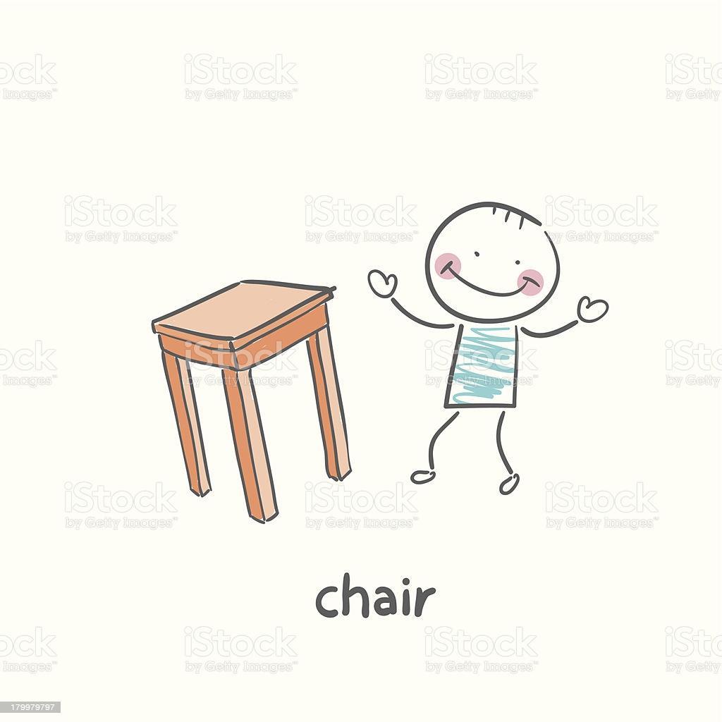 Tisch Stuhl Comic