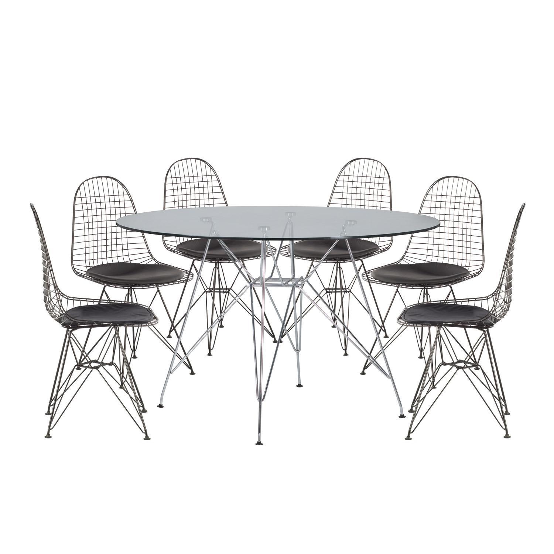Tisch Stühle Schwarz