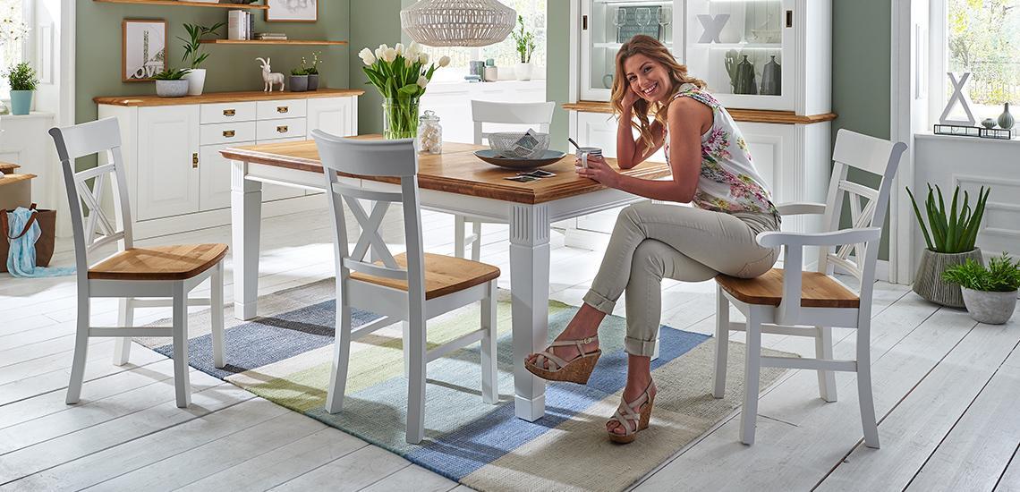 Tisch Und Stühle Landhausstil Weiß