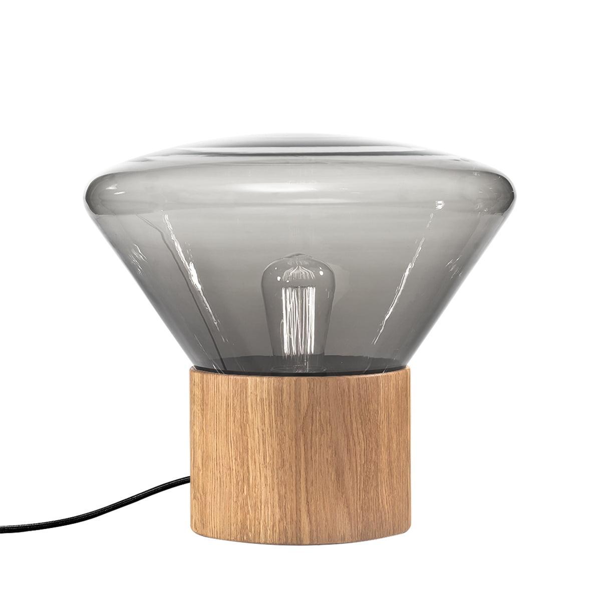 Tischlampe Glas Schwarz