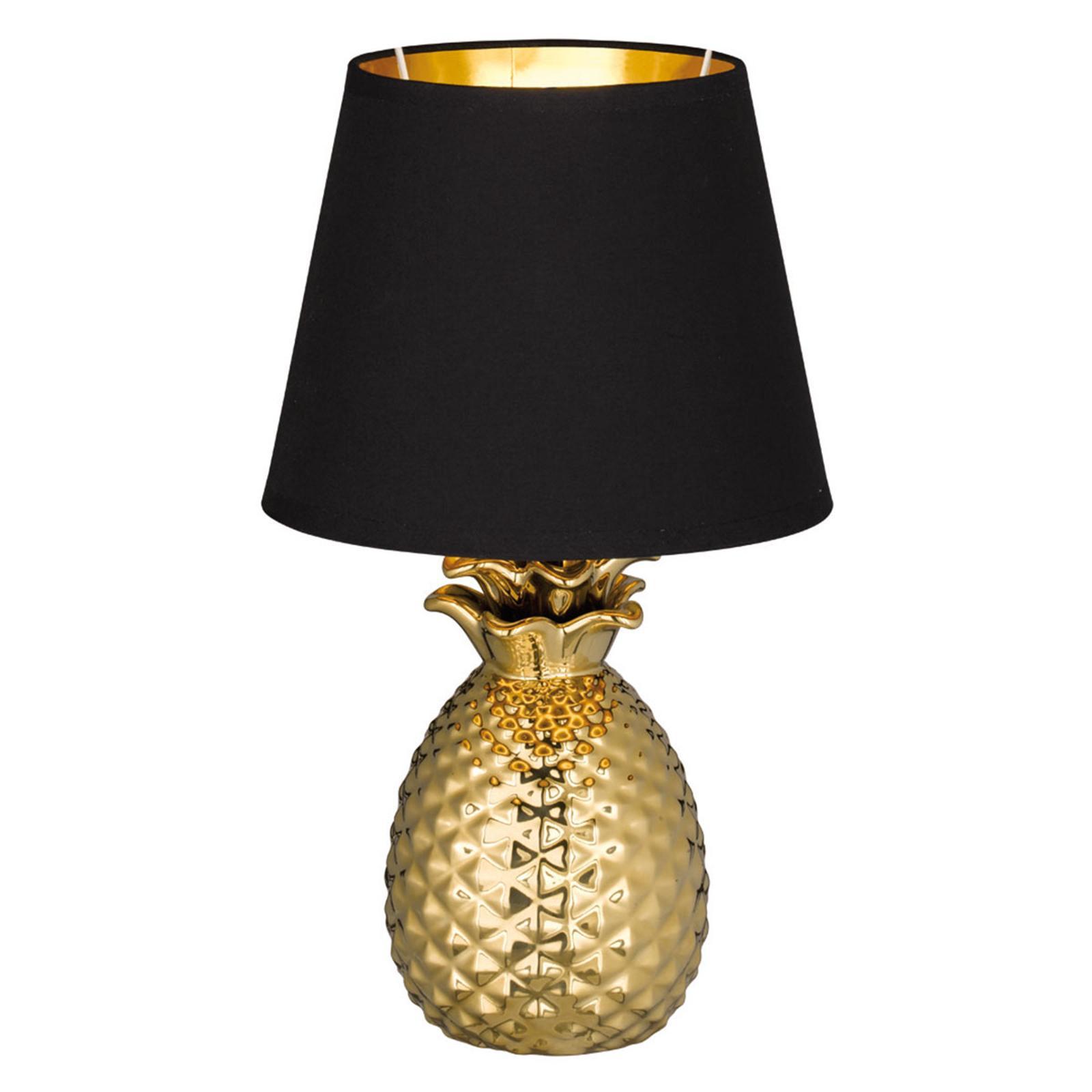 Tischlampe Gold Schwarz