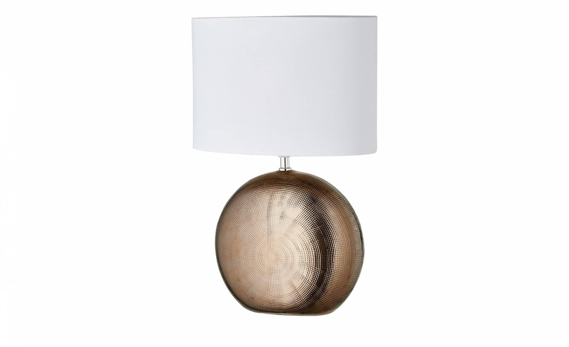 Tischlampe Grau Weiß Gestreift