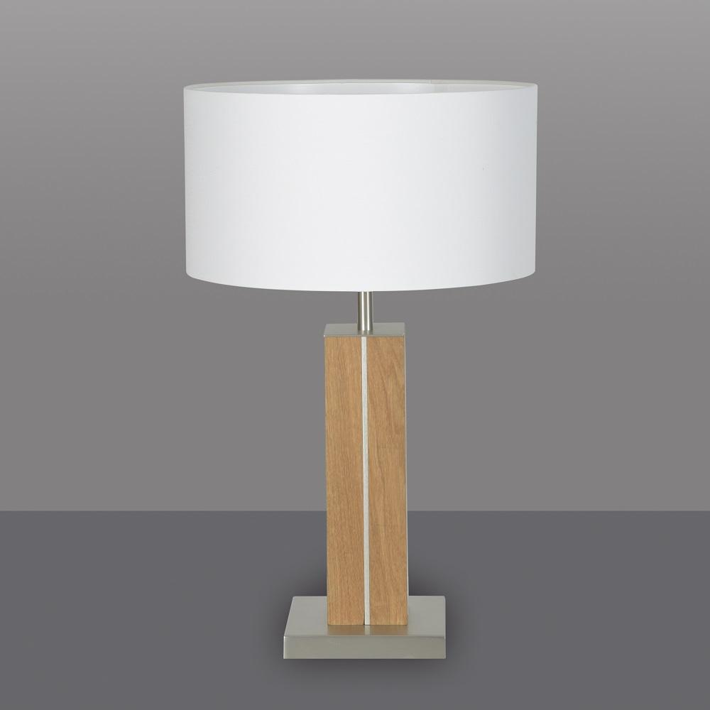 Tischlampe Holz Weiß