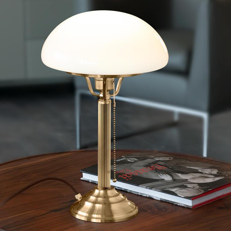 Tischlampe Messing Jugendstil