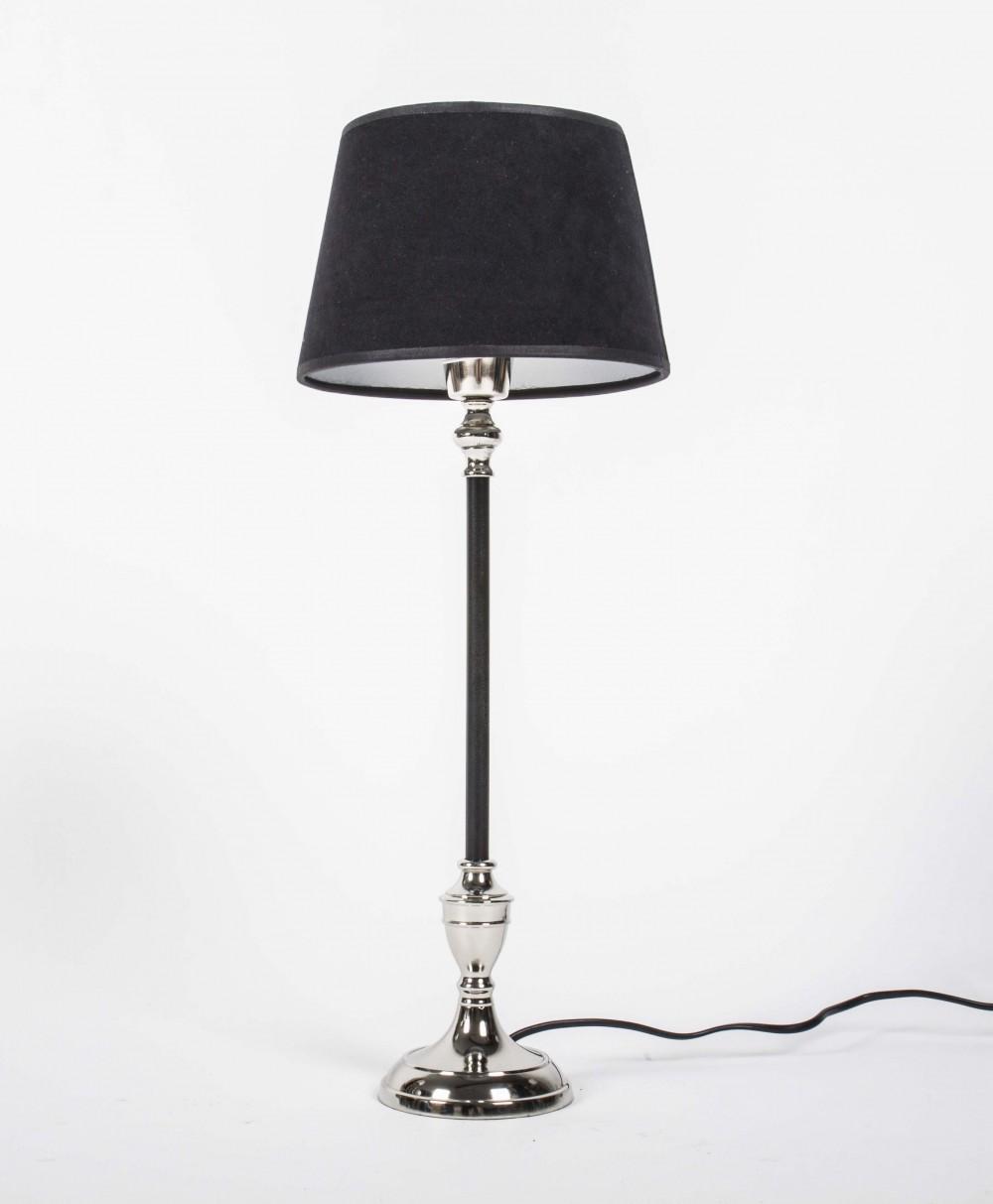 Tischlampe Schwarz Silber