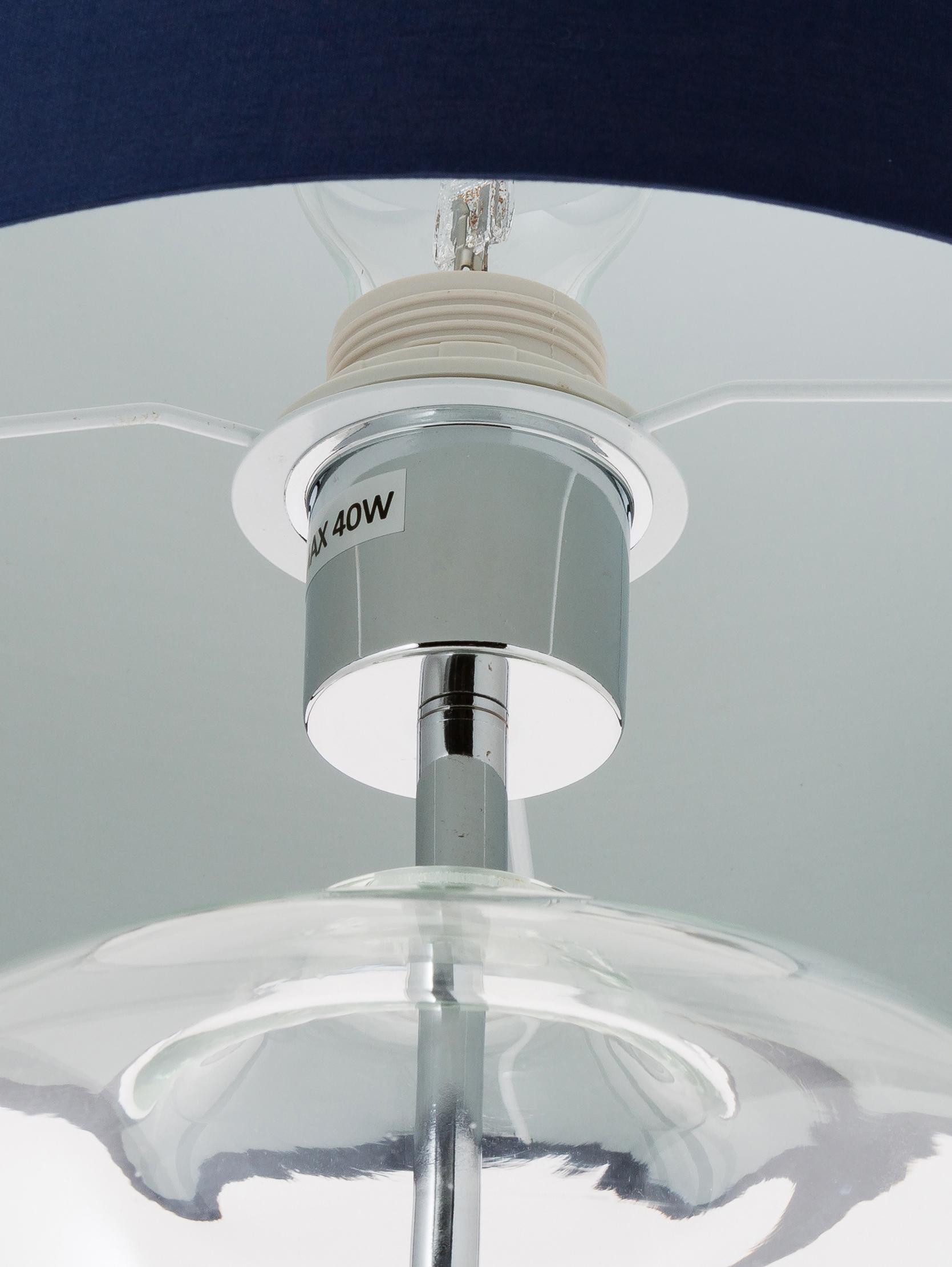 Tischlampe Silber Glas