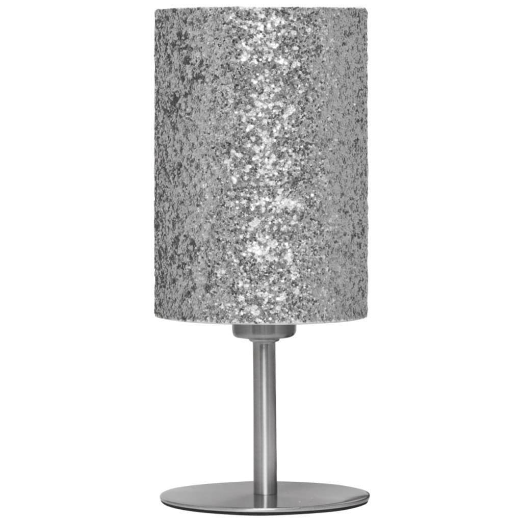 Tischlampe Silber Glitzer