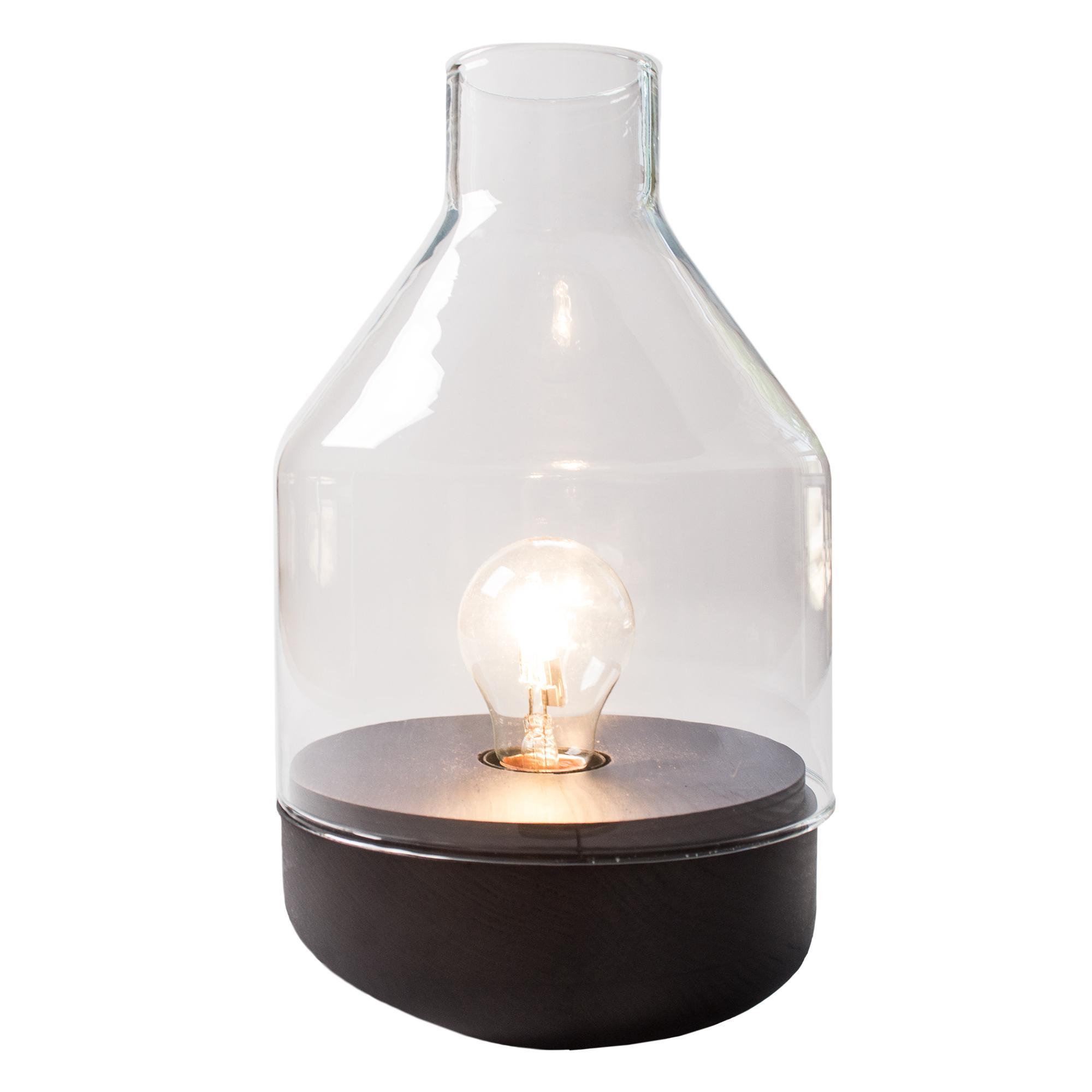 Tischlampe Weiß Glas