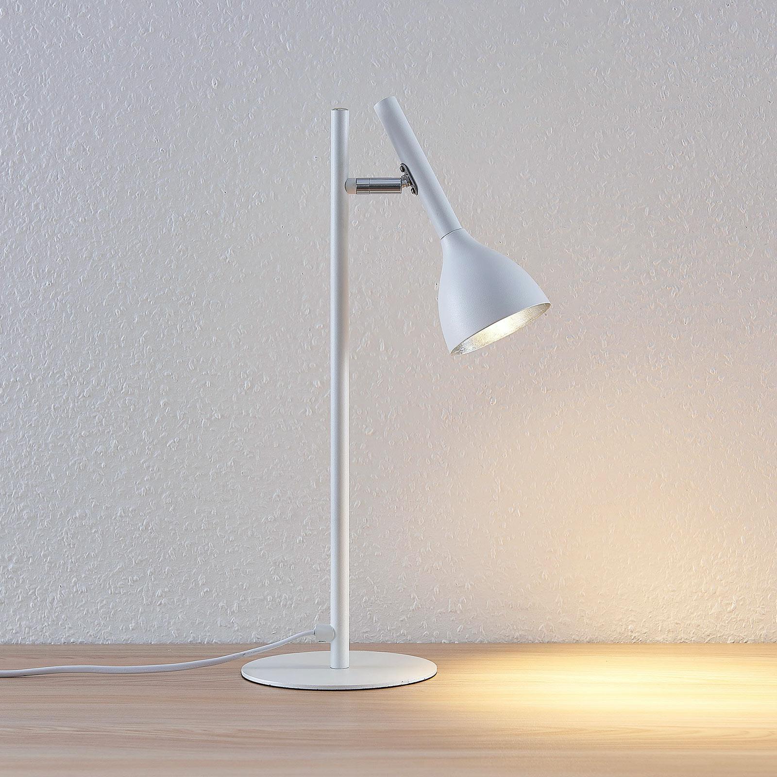 Tischlampe Weiß Silber