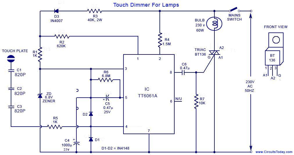 Touch Lampe Schaltplan