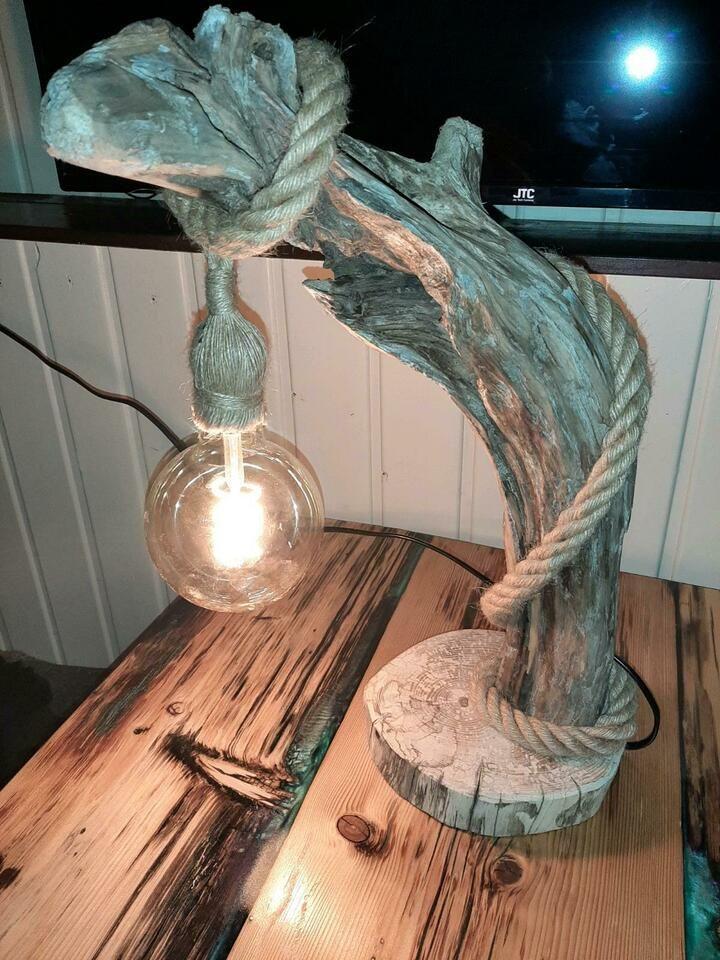 Treibholz Lampe Mit Seil