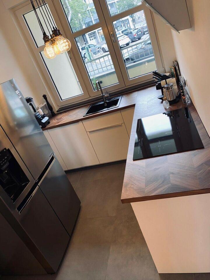U Form Küche Mit Side By Side Kühlschrank