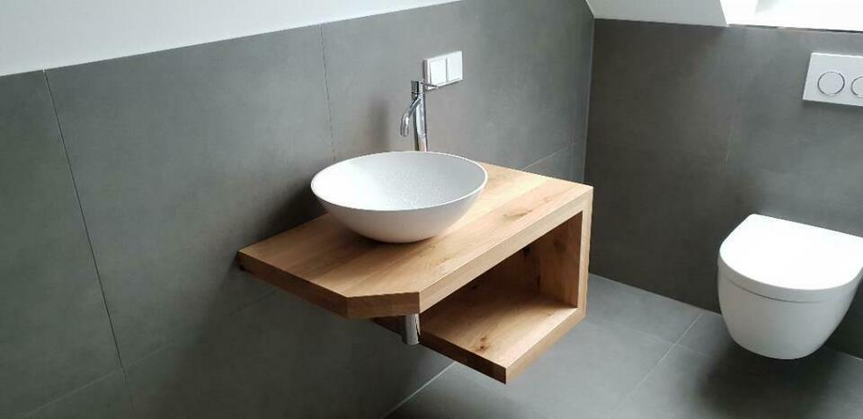 Unterschrank Waschbecken Holz