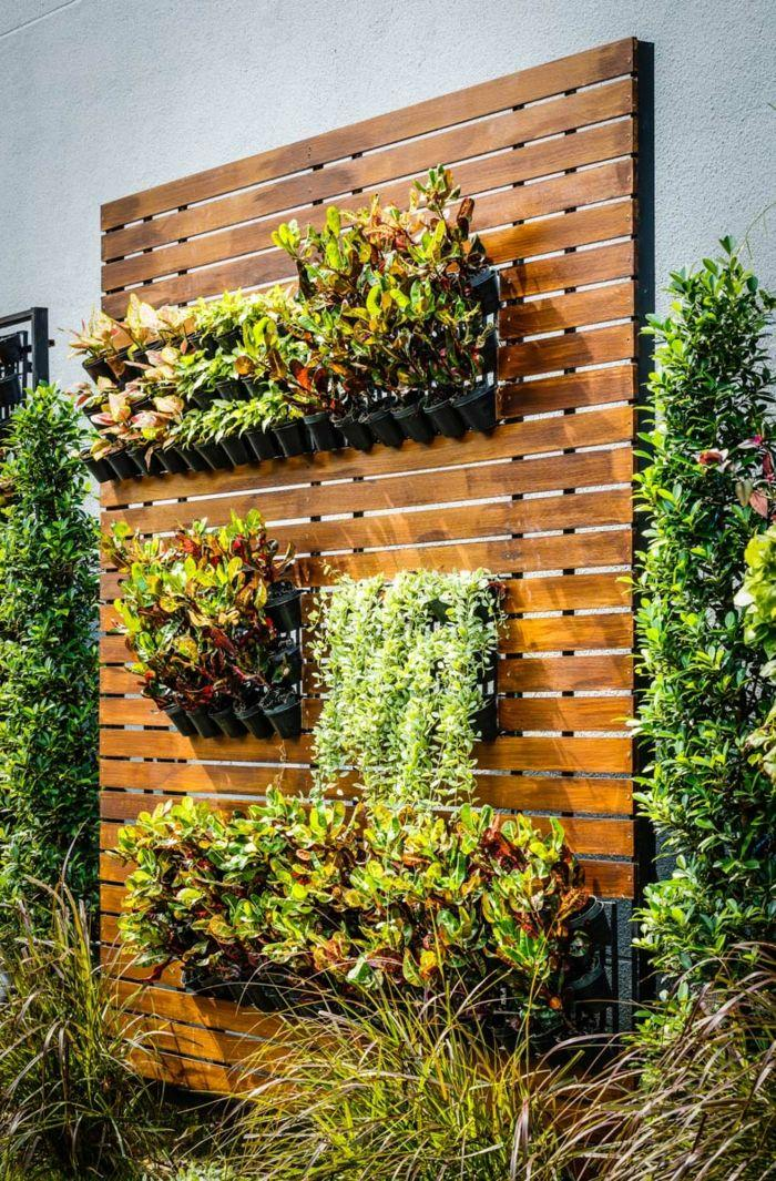 Vertikaler Garten Holz