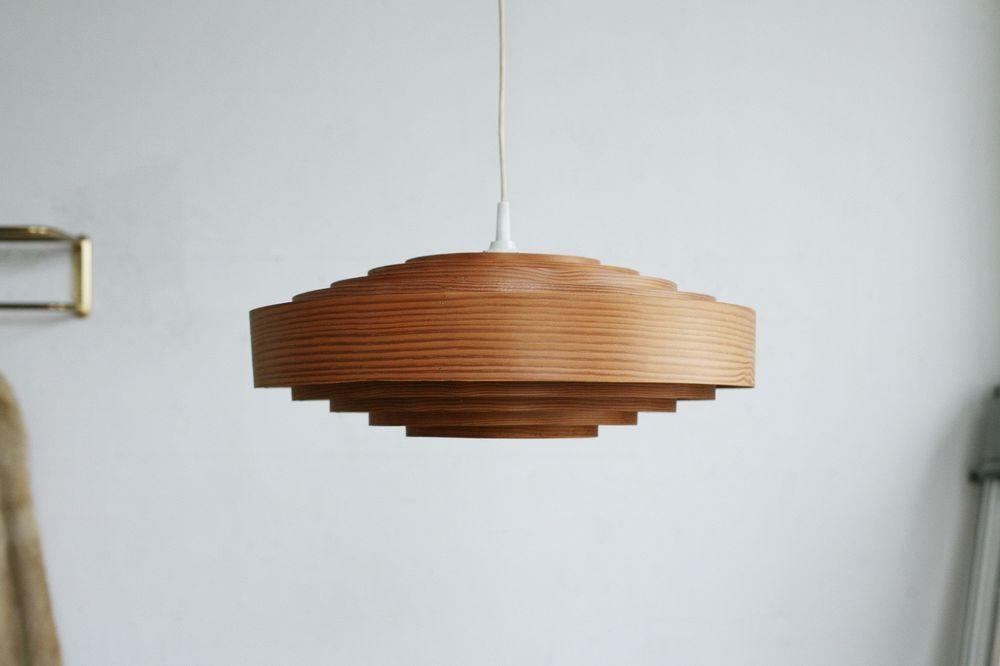 Vintage Deckenlampe Holz