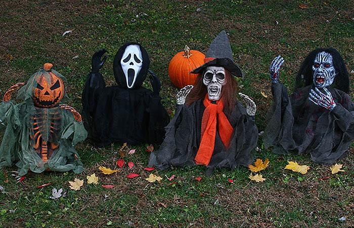 Vorgarten Halloween Deko Garten