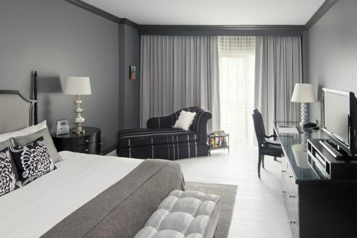 Vorhänge Schlafzimmer Grau