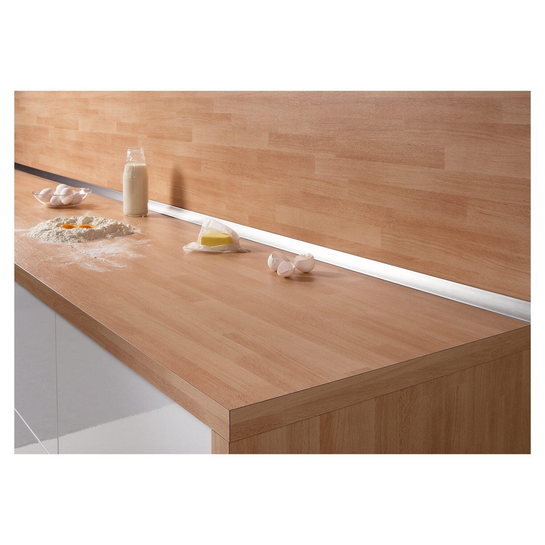 Wandanschlussprofil Küche Edelstahl
