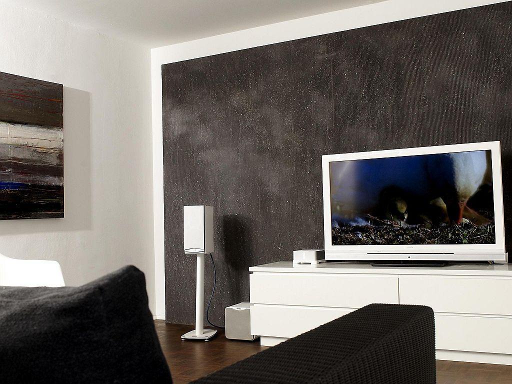 Wanddesign Farbe Wohnzimmer