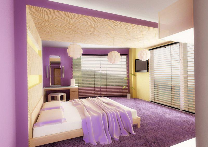 Wandfarbe Lila Schlafzimmer