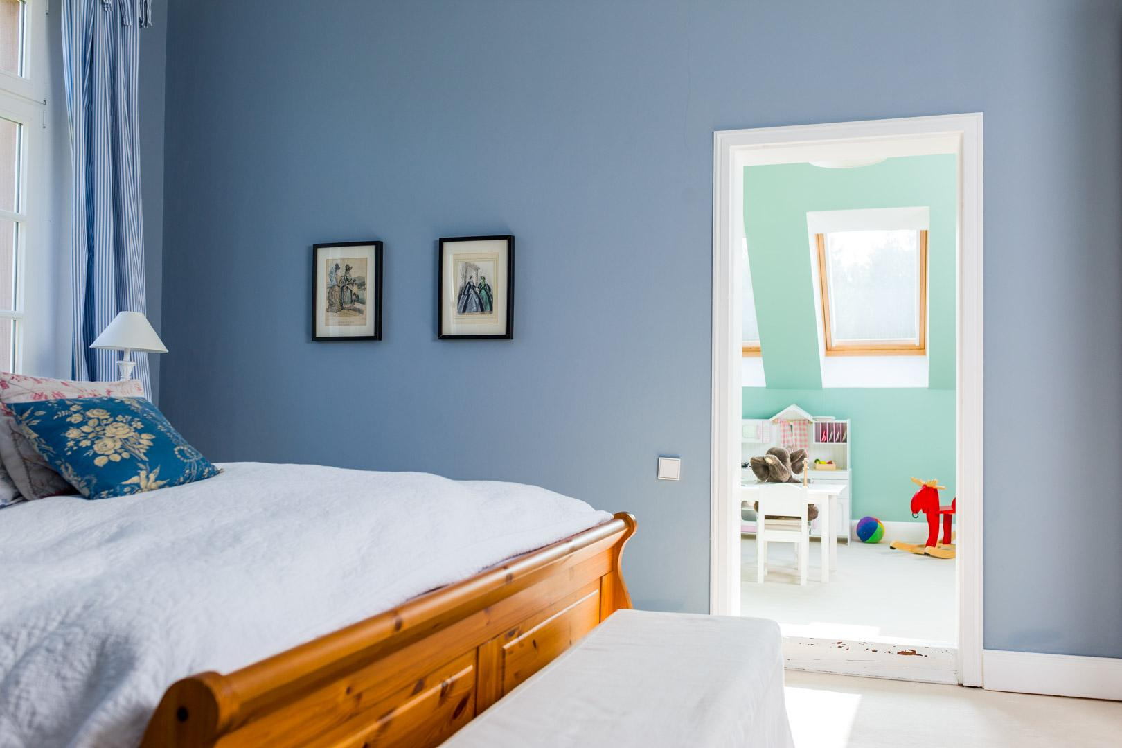 Wandfarbe Schlafzimmer Blautöne