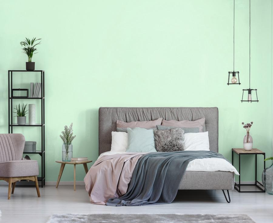 Wandfarbe Schlafzimmer Mintgrün