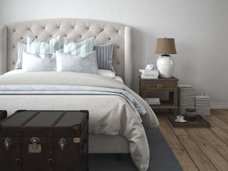 Wandfarbe Schlafzimmer Pastell Blau
