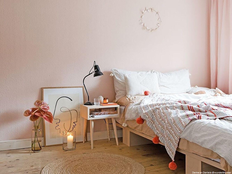 Wandfarbe Schlafzimmer Rosa Grau