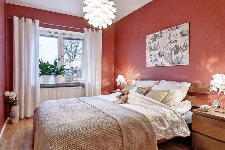 Wandfarbe Wandgestaltung Schlafzimmer Ideen