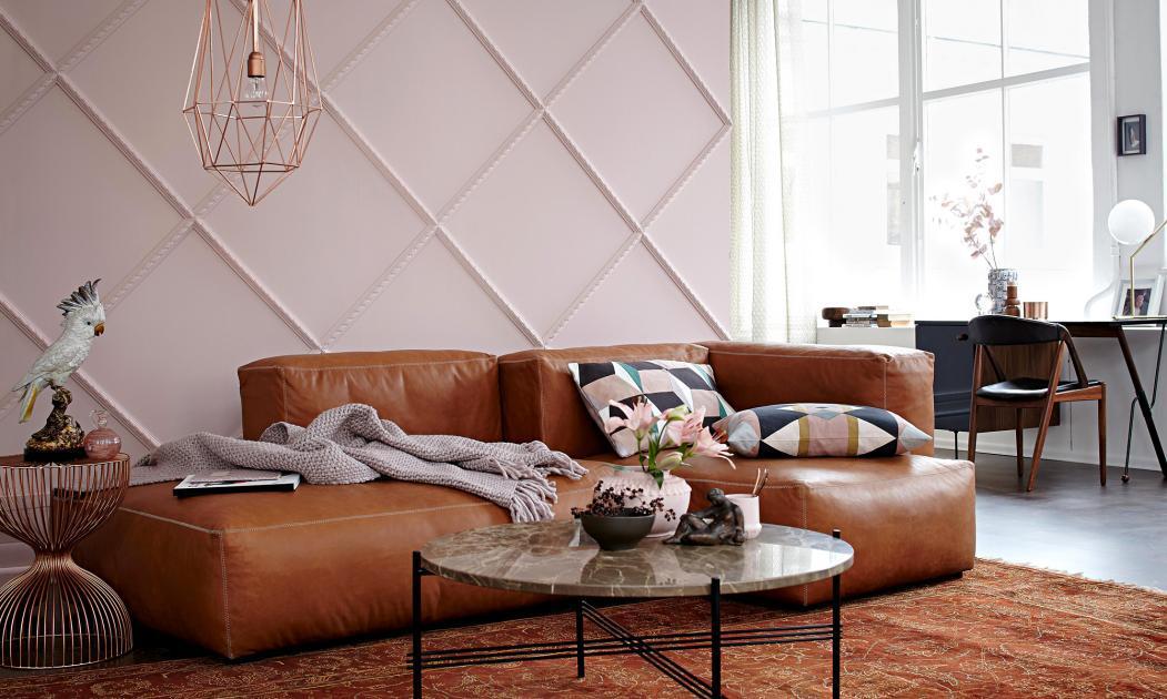 Wandfarbe Wohnzimmer Braun