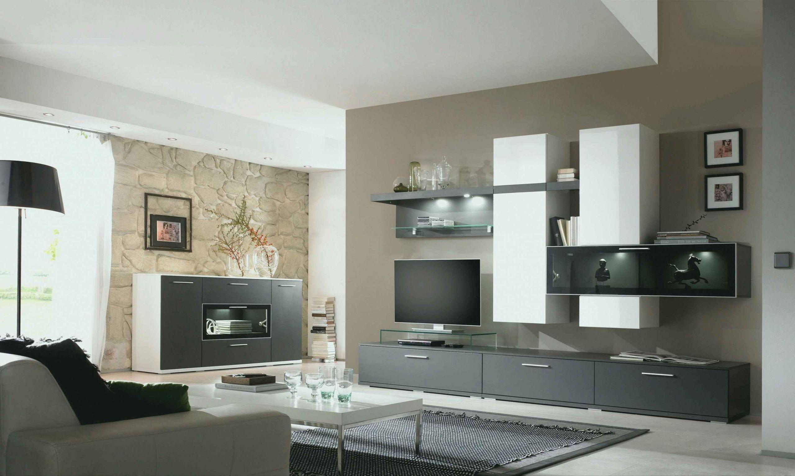 Wandfarbe Wohnzimmer Grau Weiß