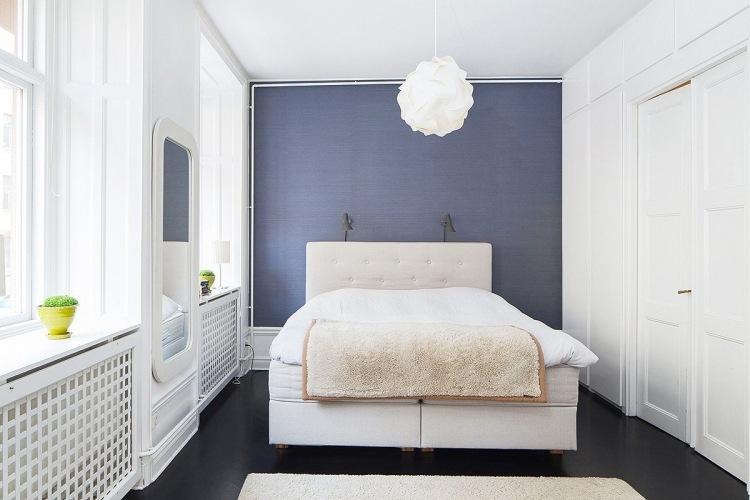 Wandgestaltung Schlafzimmer Grau Türkis