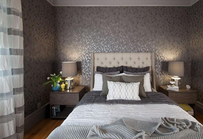 Wandgestaltung Schlafzimmer Tapeten Ideen