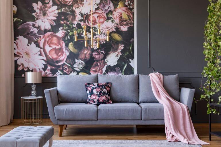 Wandgestaltung Wohnzimmer Shabby Chic