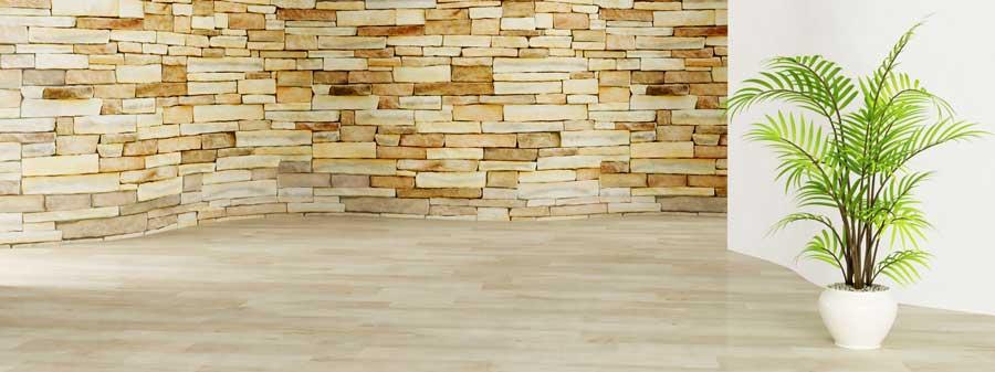 Wandgestaltung Wohnzimmer Steintapete