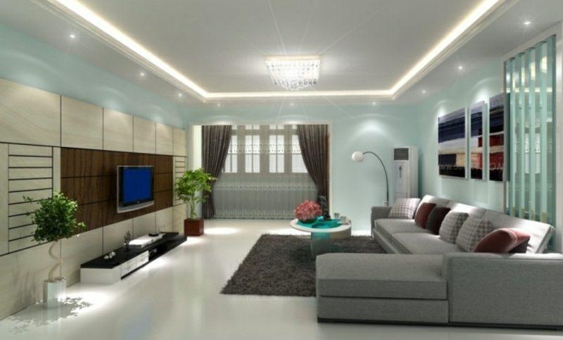 Wandgestaltung Wohnzimmer Wandfarbe Ideen