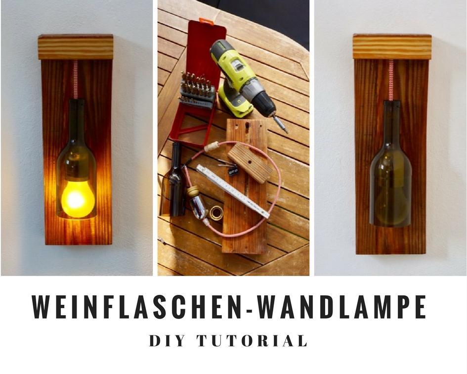 Wandlampe Holz Diy