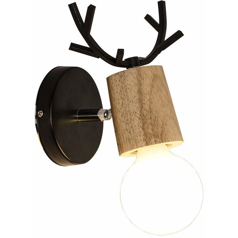 Wandlampe Holz Vintage