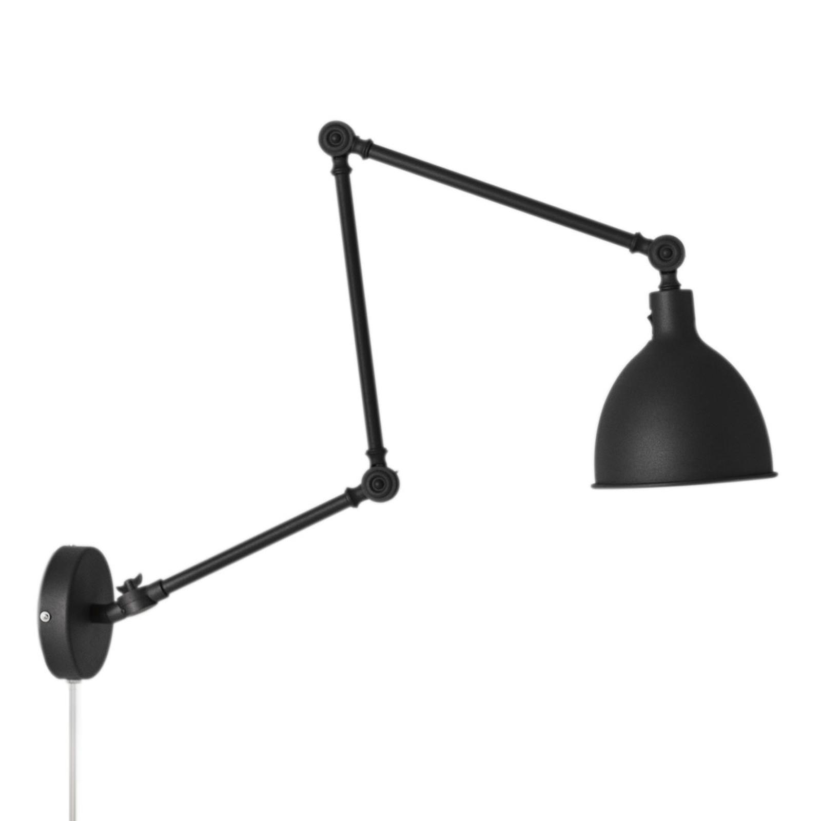 Wandlampe Mit Stecker Schwarz