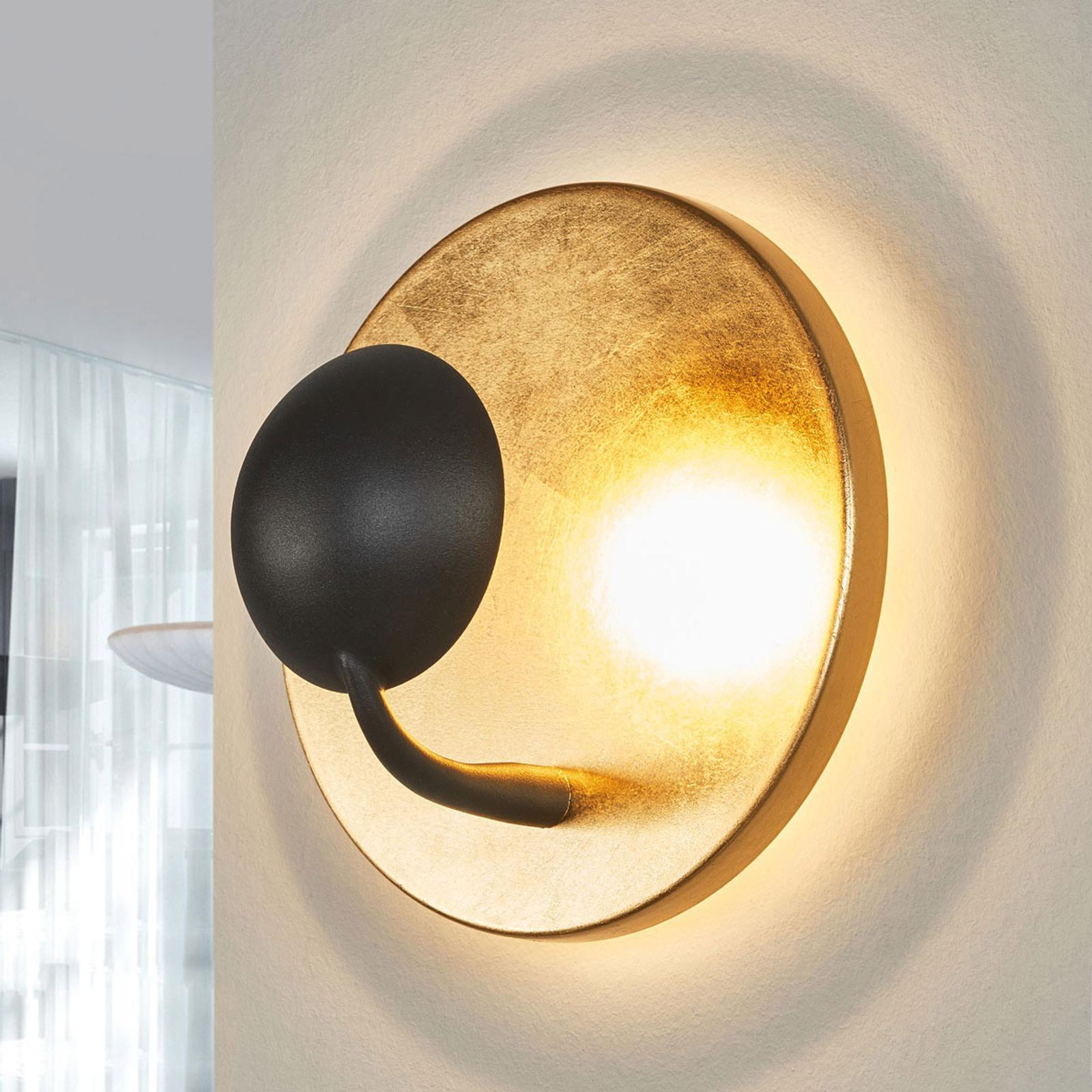 Wandlampe Schwarz Gold