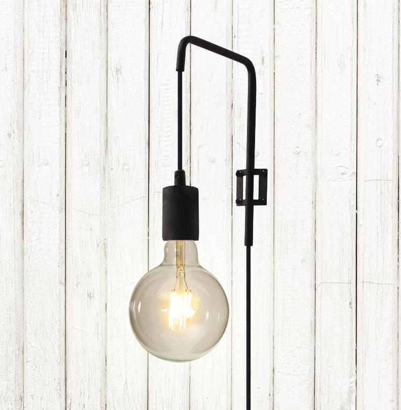 Wandlampe Schwarz Industrial