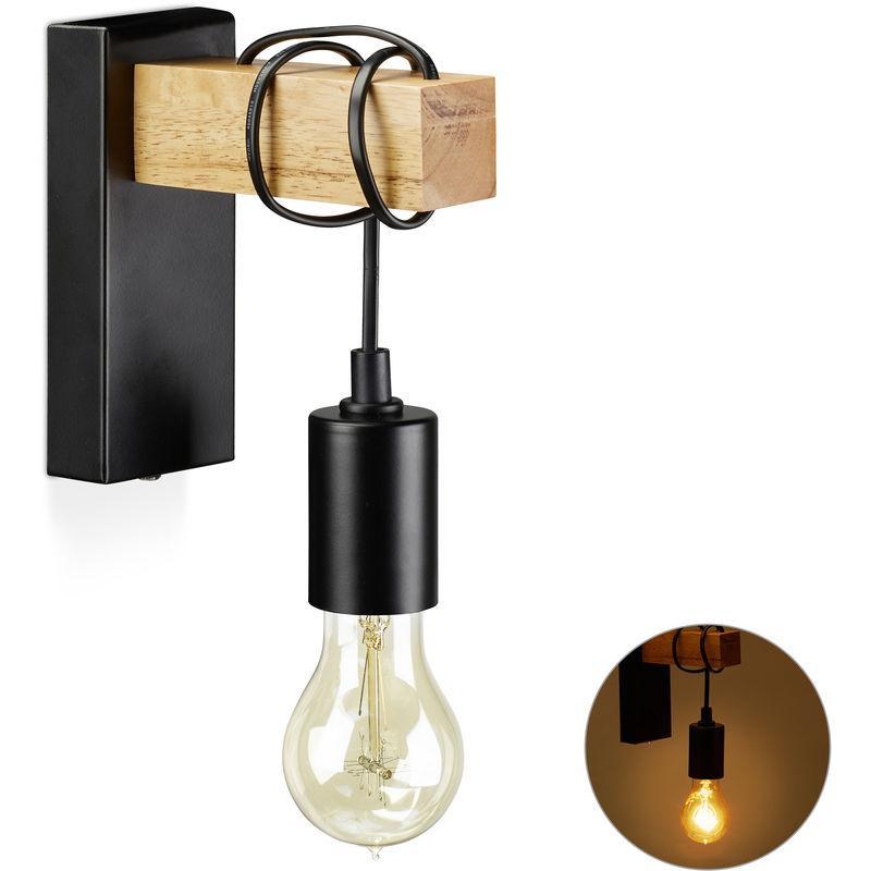 Wandlampe Vintage Holz