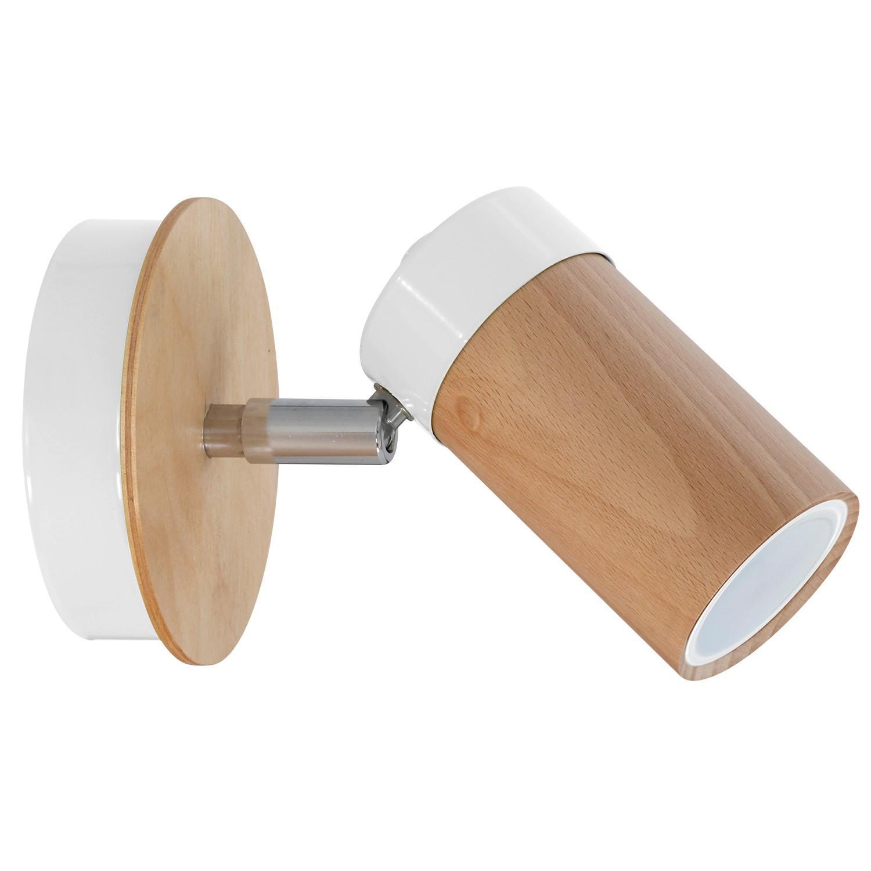 Wandlampe Weiß Holz
