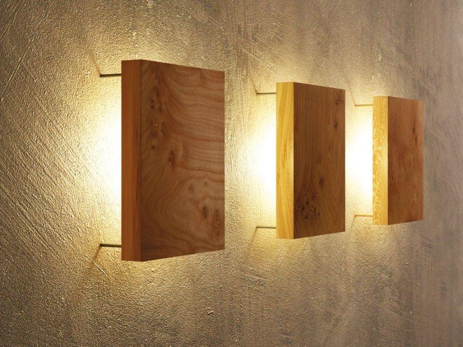Wandlampe Wohnzimmer Holz