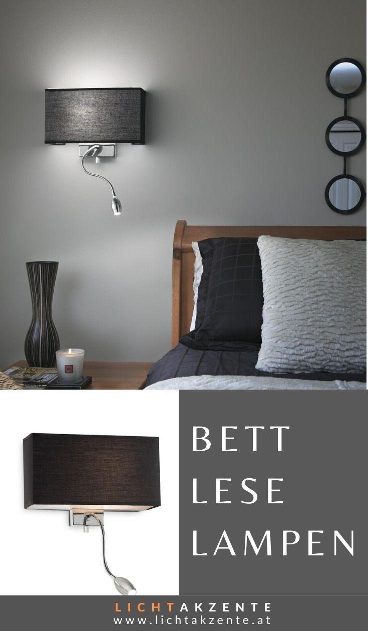 Wandleuchte Bett Schwarz