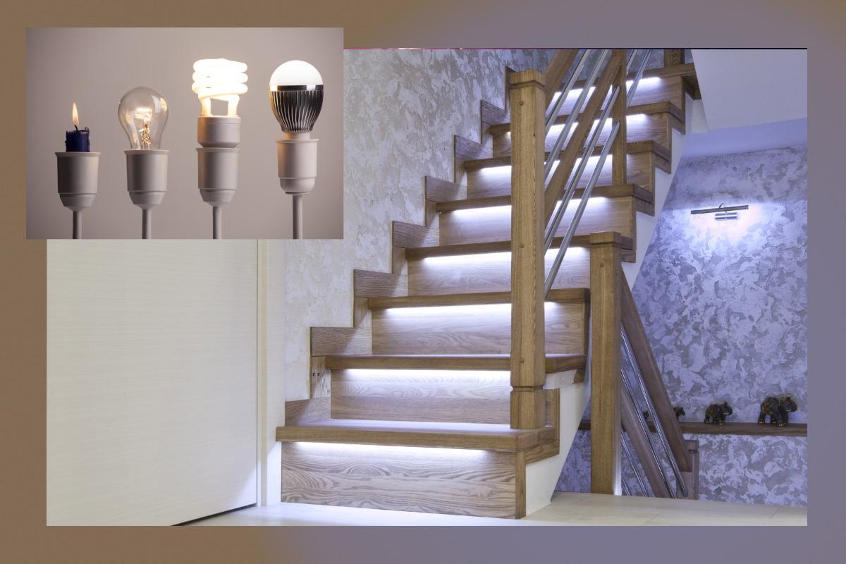 Wandleuchte Treppenhaus Holz