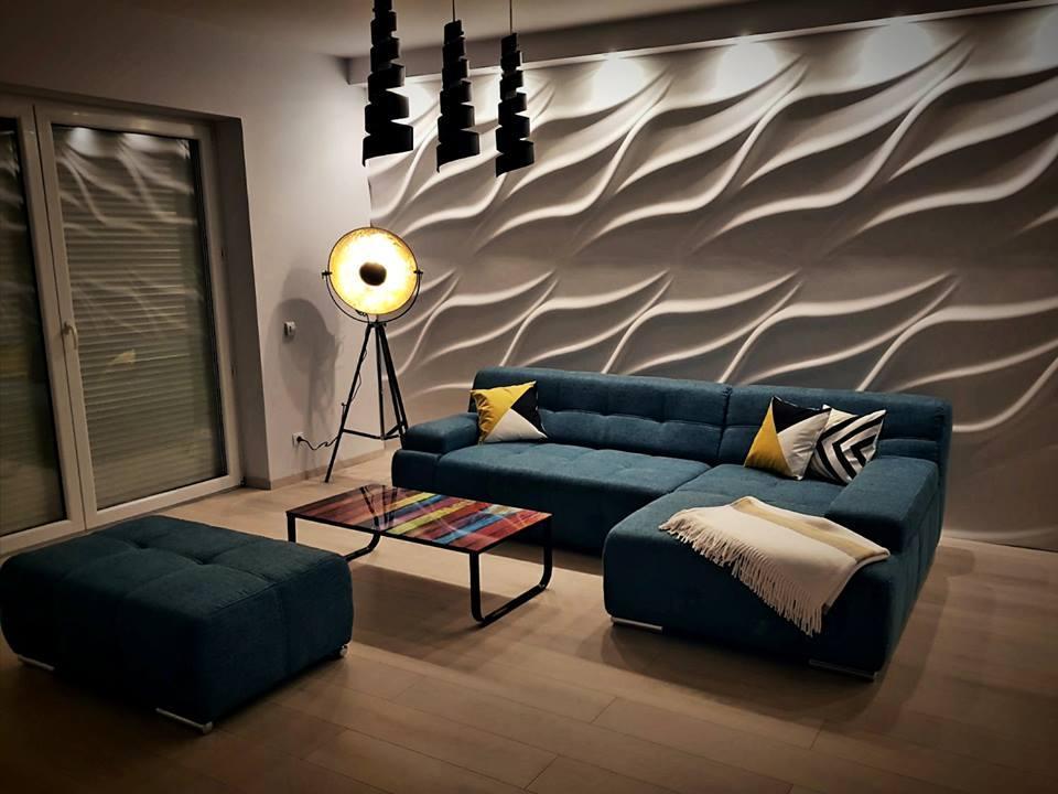 Wandpaneele Wohnzimmer Wand