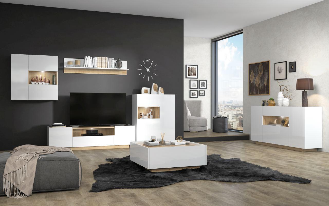 Wandregal Wohnzimmer Weiß