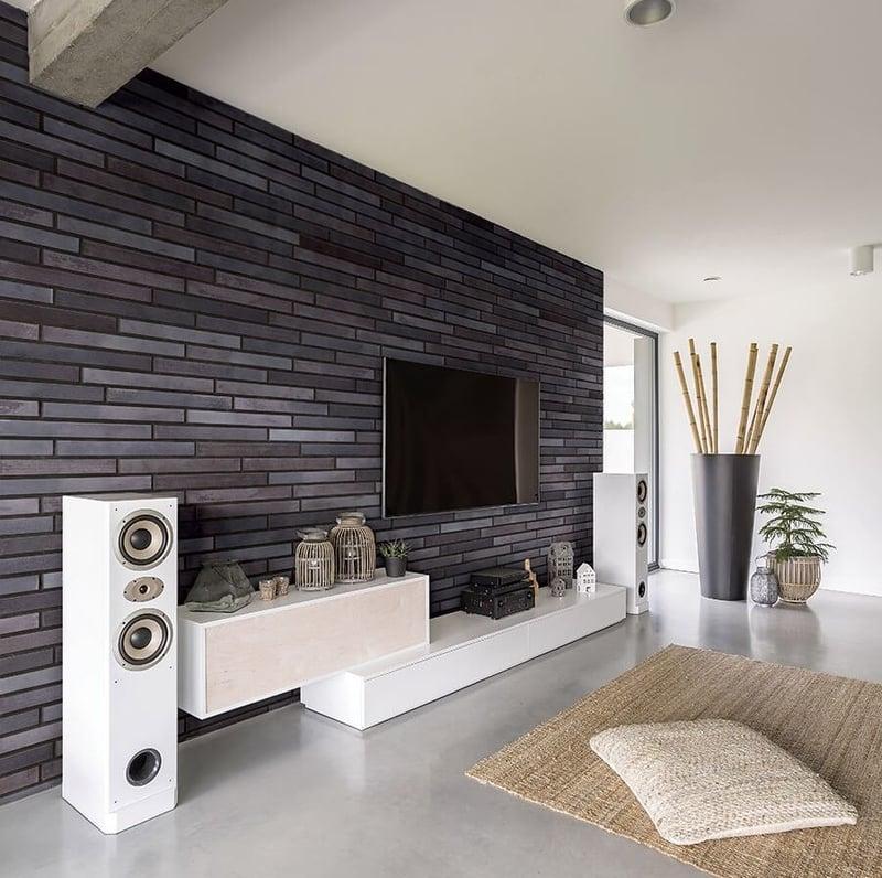 Wandverkleidung Wohnzimmer Grau