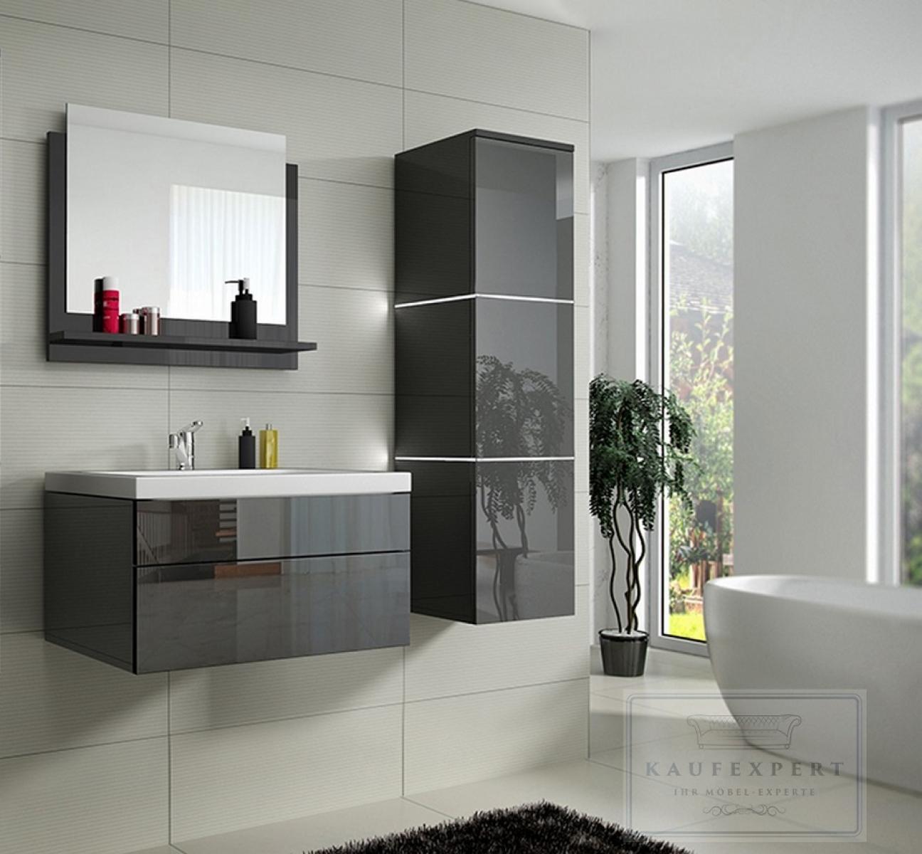 Waschbecken Badezimmer Grau